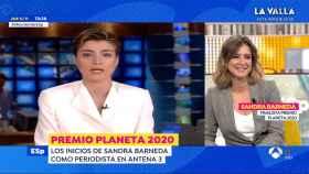 Sandra Barneda ha visto imágenes de sus inicios en 'Antena 3 Noticias'.