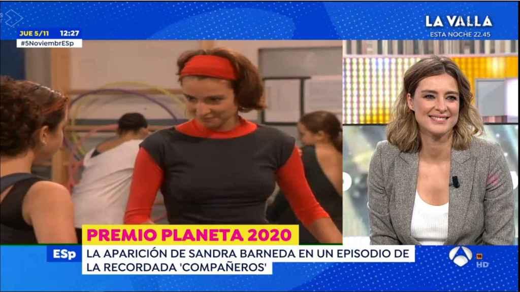 Sandra Barneda ha recordado su aparición en la serie 'Compañeros'.