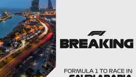 El anuncio oficial del nuevo Gran Premio de Arabia Saudí de Fórmula 1. Foto: Twitter (@F1)