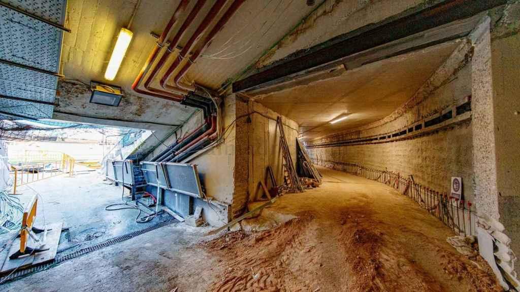 Así es el túnel del nuevo Santiago Bernabéu