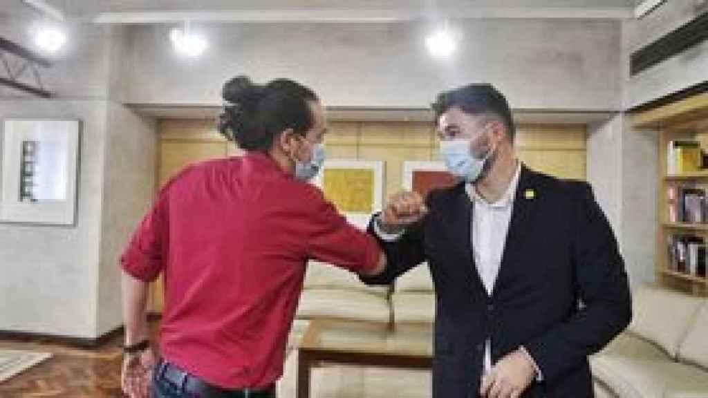 Pablo Iglesias y Gabriel Rufián, en una imagen reciente.