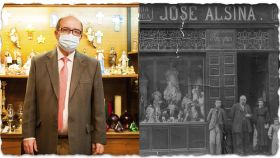 A la izquierda, Juan Ignacio Alsina. A la derecha, sus antepasados, los fundadores del negocio.