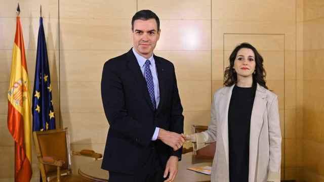 Sánchez y Arrimadas, durante una de sus últimas reuniones.