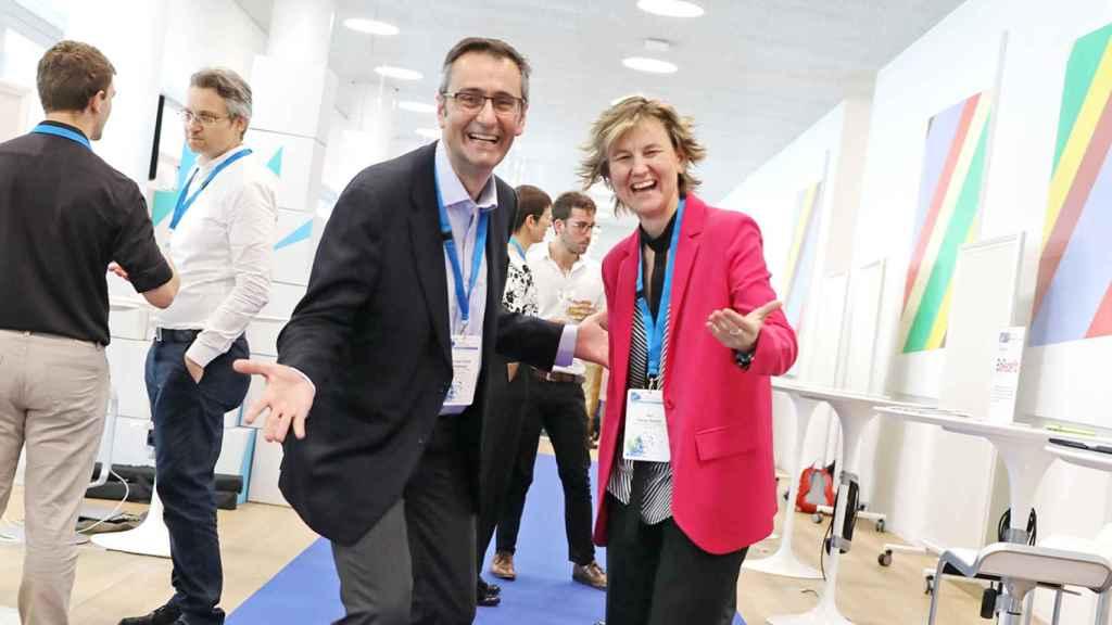 Eva García, CEO y cofundadora de Wivi Vision, junto a su socio y cofundador, Juan Carlos Ondategui-Parra.