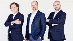 Ramón Blanco, François Derbaix y Unai Ansejo, cofundadores de Indexa Capital.