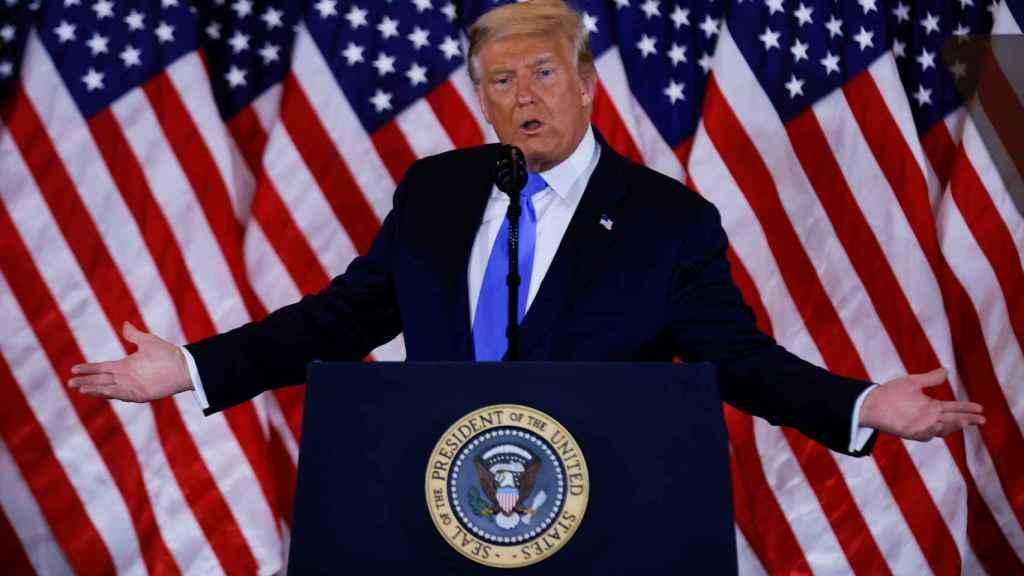 Donald Trump durante una rueda de prensa en la Casa Blanca el pasado 3 de noviembre.