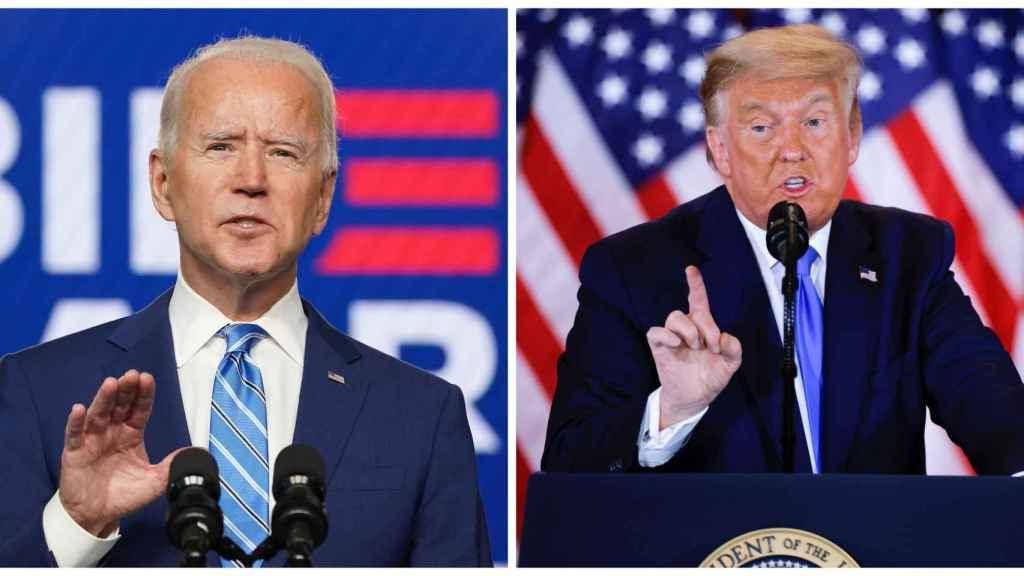 El candidato demócrata a la Casa Blanca, Joe Biden, y el republicano, Donald Trump.