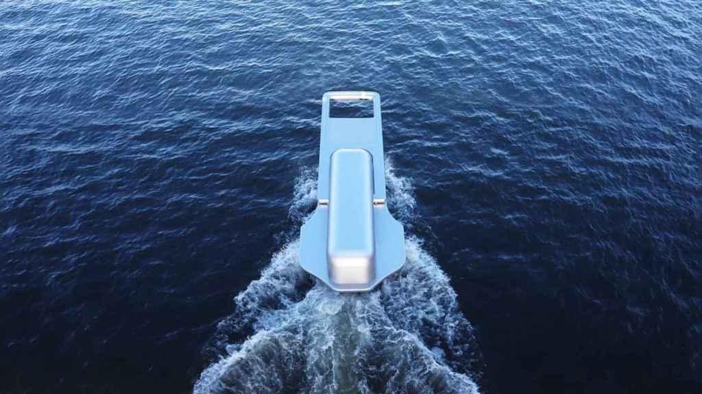Así es el barco con forma de cremallera.
