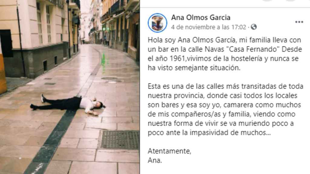 El post de Ana en Facebook.