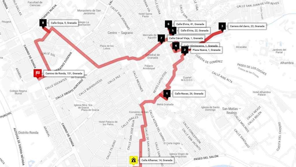Ruta de tapas por Granada en la era pre-Covid.
