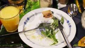 Restos de un plato (seguramente) saludable.