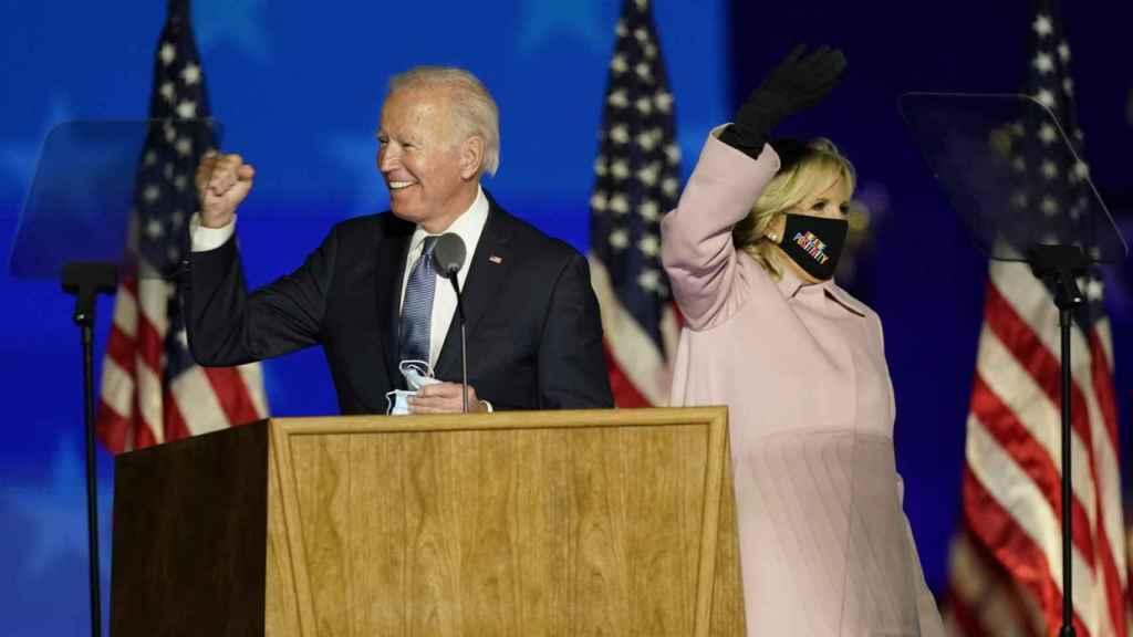 Joe y Jill Biden tras las elecciones.