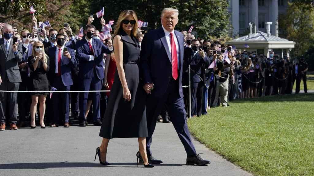 Melania y Donald Trump, durante la campaña electoral.