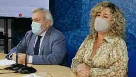 Marta Medina, concejala de Parques y Jardines, y el concejal Juan José Pérez del Pino