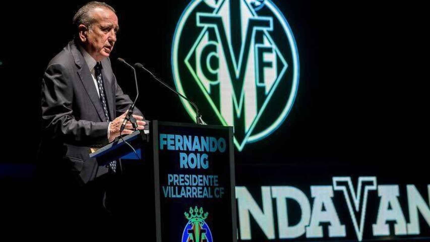 Fernando Roig, en un acto del Villarreal CF, club que preside. EE