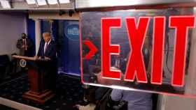El presidente de Estados Unidos, Donald Trump, comparece en la Casa Blanca.