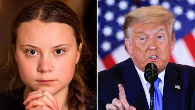 Greta Thunberg y Donald Trump en un fotomontaje.
