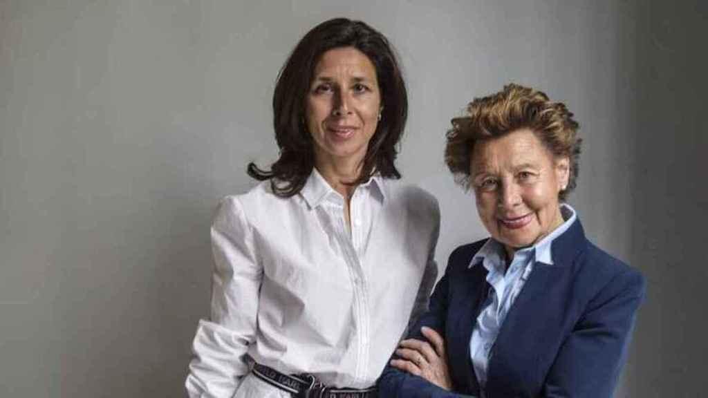 Lourdes Gullón, la nueva presidenta de Gullón, junto a su madre, expresidenta ejecutiva.