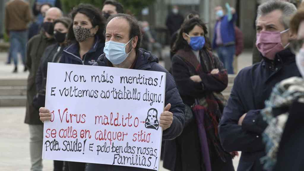 Concentraciones en la plaza de María Pita (La Coruña). Europa press.