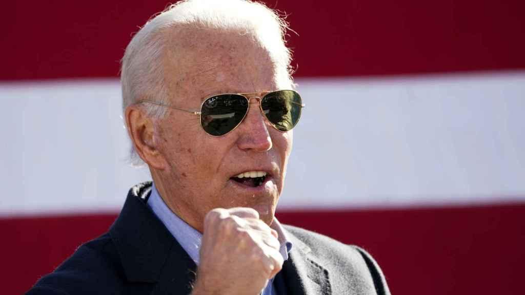 Joe Biden en un acto de campaña en Pensilvania, el estado que ha confirmado su victoria.