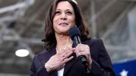La vicepresidenta electa, Kamala Harris, durante un mitin en Los Ángeles.