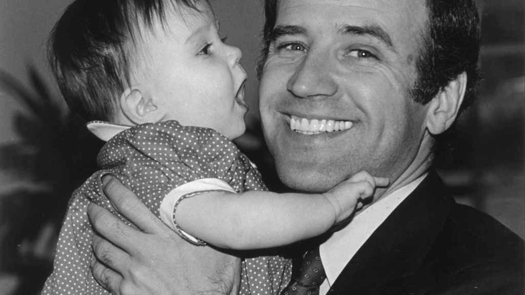 Joe Biden con Ashley, la hija fruto de su matrimonio con Jill.