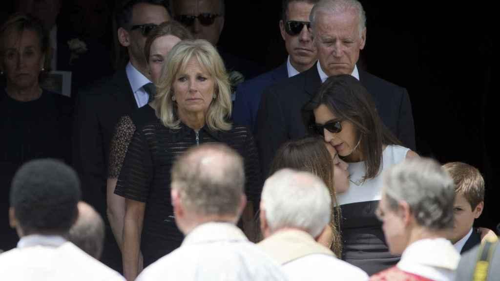 Joe y Jill Biden en el funeral de Beau, primogénito del político.