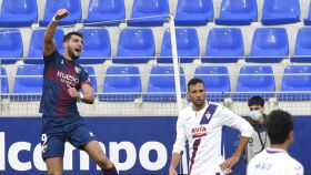 Rafa Mir celebra su gol en el Huesca - Eibar