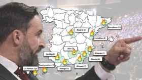 El mapa de las 11 puntos más calientes de las rebeliones internas en el seno de Vox.