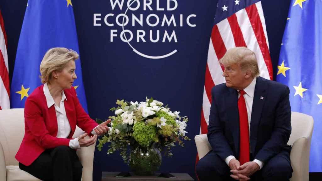 Ursula von der Leyen y Donald Trump, en su reunión en enero en el foro de Davos