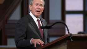 George Bush en el funeral de John Lewis en julio.