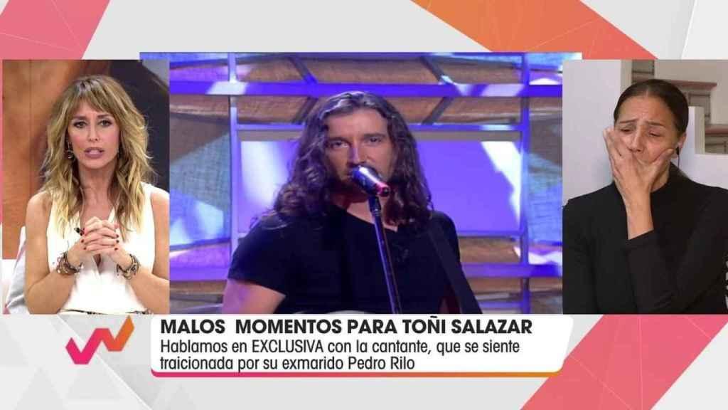 La cantante se ha mostrado visiblemente nerviosa al relatar su guerra contra Pedro Rilo.