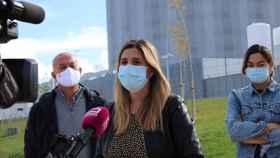 Carolina Agudo, este domingo a las puertas del nuevo hospital de Toledo