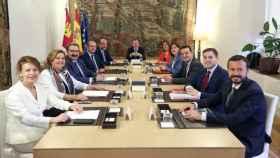 Los miembros del Consejo de Gobierno de Castilla-La Mancha