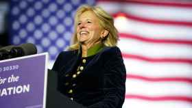 Jill Biden durante un acto de campaña en Pittsburgh el mismo día de las elecciones.