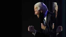 Joe Biden celebra la victoria en Wilmington, Delaware.