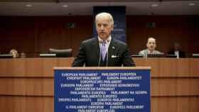 El presidente electo de EEUU, Joe Biden, durante un discurso en la Eurocámara en 2015.