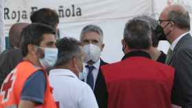 Marlaska en su visita a Canarias por el problema migratorio, el pasado mes de noviembre.