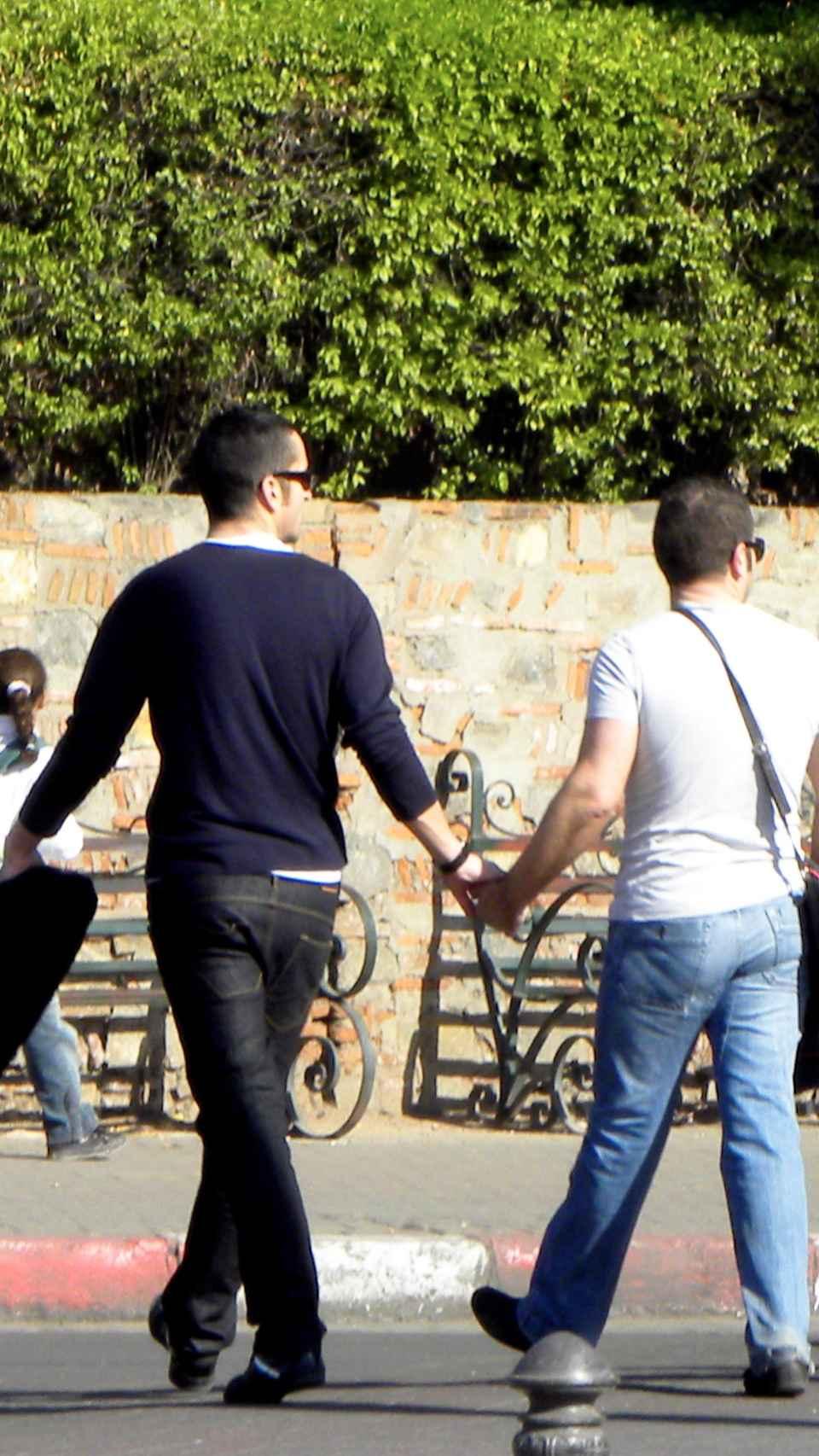 Jorge Javier Vázquez y su ex Paco en Marruecos en el año 2009.