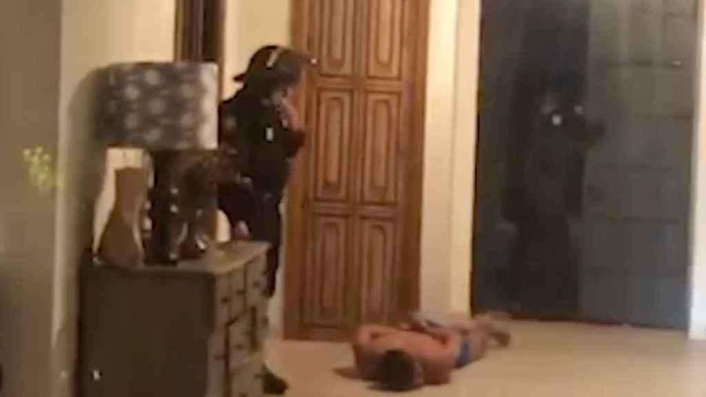 Momento de la detención de Mario Halley