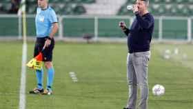 Oscar García Junyent, durante un partido del Celta