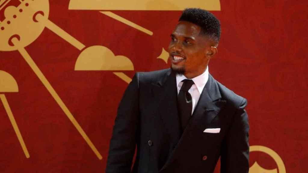 El exfutbolista camerunés Samuel Eto'o