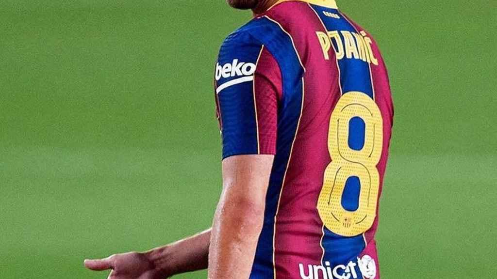 Miralem Pjanic, en un partido del Barcelona. Foto: Instagram (@miralem_pjanic)