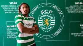 Bruno Tavares, futbolista del Sporting de Portugal. Foto: Twitter (@Sporting_CP)