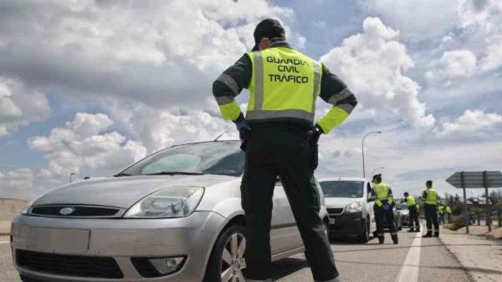 Intervención de la Guardia Civil de Tráfico./