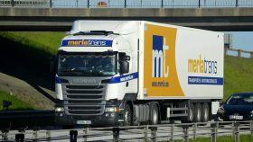 Un camión de MerlaTrans, empresa afectada por las restricciones de España y Marruecos.