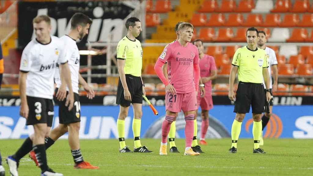 Odegaard, contra el Valencia