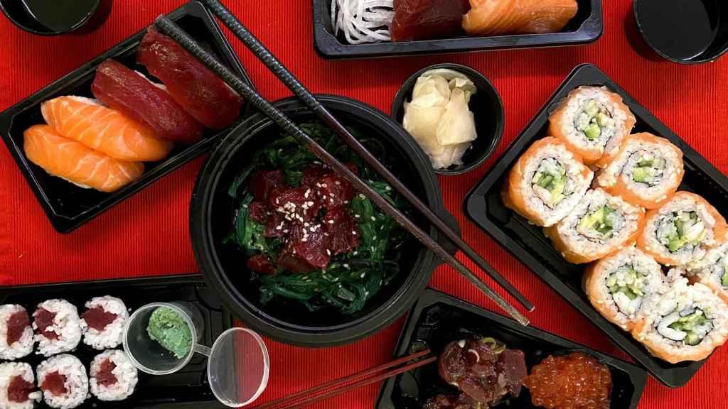 Selección de sushi en Sushi Kotobuki