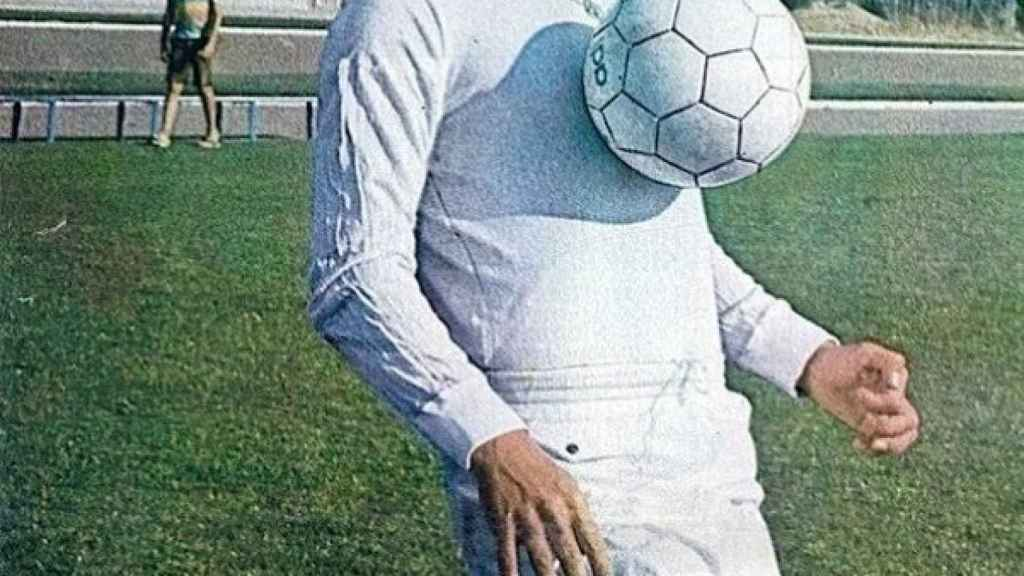 Juan Cruz Sol, con la camiseta del Real Madrid