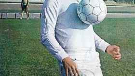 Juan Cruz Sol, con la camiseta del Real Madrid